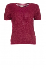 Des Petits Hauts | Sweater with lurex Armance | burgundy  | Picture 1