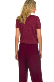 Des Petits Hauts | Sweater with lurex Armance | burgundy  | Picture 5