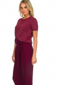 Des Petits Hauts | Sweater with lurex Armance | burgundy  | Picture 4