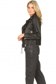 Sofie Schnoor |  Lamb leather jacket Emeli | black  | Picture 5