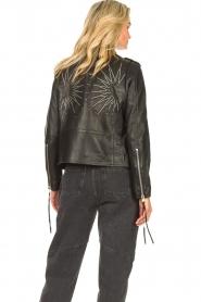 Sofie Schnoor |  Lamb leather jacket Emeli | black  | Picture 6