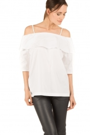 Set |  Off-shoulder top Gilda | white  | Picture 4