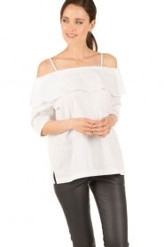 Set | Off-shoulder top Gilda | wit  | Afbeelding 2