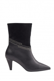 Sofie Schnoor |  Leather studded ankle boots Zoella | black  | Picture 1