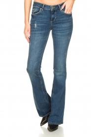 Liu Jo | Flared jeans Kareen | blauw   | Afbeelding 5