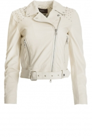 Set |  Leather biker jacket Paige | natural  | Picture 1