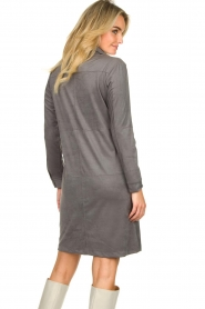 Knit-ted |  Faux suede dress Sanna | grey  | Picture 7