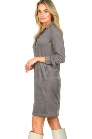 Knit-ted |  Faux suede dress Sanna | grey  | Picture 6