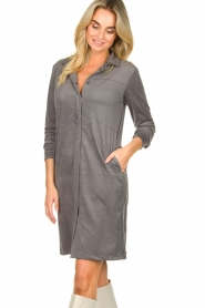 Knit-ted |  Faux suede dress Sanna | grey  | Picture 4