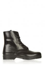 Sofie Schnoor |  Leather lace-up boots Tica | black  | Picture 1