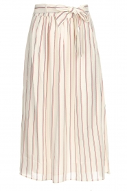 Des Petits Hauts |  Striped midi skirt Rimette | white  | Picture 1
