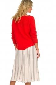 Des Petits Hauts |  Striped midi skirt Rimette | white  | Picture 6