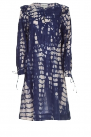 Antik Batik |  Dress with print Atlas | blue  | Picture 1