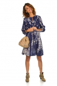 Antik Batik |  Dress with print Atlas | blue  | Picture 3