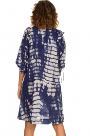 Antik Batik |  Dress with print Atlas | blue  | Picture 5