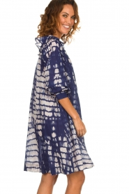 Antik Batik |  Dress with print Atlas | blue  | Picture 4