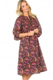 Antik Batik |  Cotton midi dress with print Piotr | multi  | Picture 5