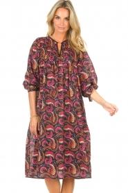 Antik Batik |  Cotton midi dress with print Piotr | multi  | Picture 4