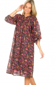 Antik Batik |  Cotton midi dress with print Piotr | multi  | Picture 6