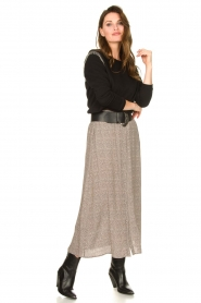 Knit-ted |  Midi skirt Sandra | natural  | Picture 3