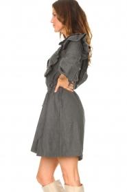 Antik Batik    Cotton dress with ruffles Lova   grey    Picture 5
