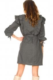 Antik Batik    Cotton dress with ruffles Lova   grey    Picture 6
