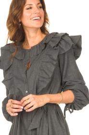Antik Batik    Cotton dress with ruffles Lova   grey    Picture 7