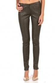 Leather pants Blake | green