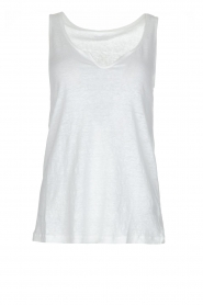 Linnen tanktop Madrid | wit