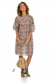 Antik Batik |  Printed cotton dress Betsie | multi  | Picture 3