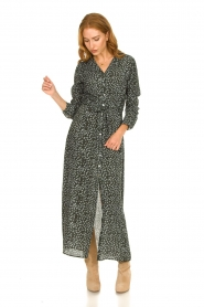 Knit-ted |  Maxi dress with print Pixie | green  | Picture 4