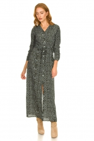 Knit-ted |  Maxi dress with print Pixie | green  | Picture 3