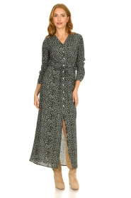 Knit-ted |  Maxi dress with print Pixie | green  | Picture 2