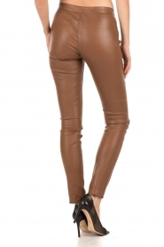 Leather pants Hockney | camel