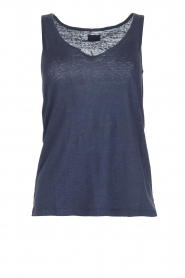 Blaumax |  Linen tank top Madrid | blue  | Picture 1