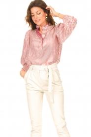 Antik Batik |  Cotton blouse with lurex Meela | red  | Picture 2