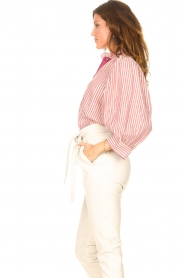 Antik Batik |  Cotton blouse with lurex Meela | red  | Picture 5