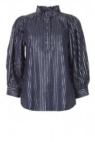 Antik Batik    Cotton blouse with lurex Meela   blue    Picture 1