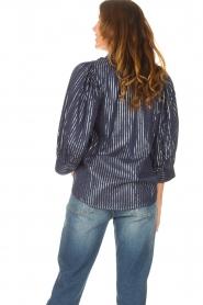 Antik Batik    Cotton blouse with lurex Meela   blue    Picture 7