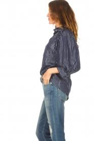 Antik Batik    Cotton blouse with lurex Meela   blue    Picture 6