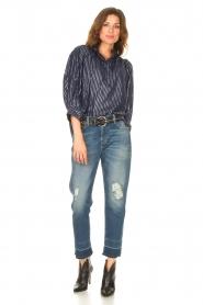 Antik Batik    Cotton blouse with lurex Meela   blue    Picture 3