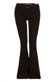 Denham | High waisted flared jeans Farrah lengtemaat 34 | zwart  | Afbeelding 1