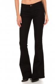 Denham | High waisted flared jeans Farrah lengtemaat 34 | zwart  | Afbeelding 2