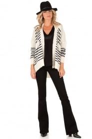 Denham | High waisted flared jeans Farrah lengtemaat 34 | zwart  | Afbeelding 3