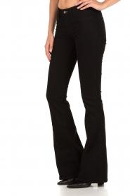 Denham | High waisted flared jeans Farrah lengtemaat 34 | zwart  | Afbeelding 4