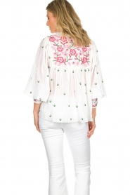 Antik Batik |  Embroiderded blouse Lilou | white  | Picture 4