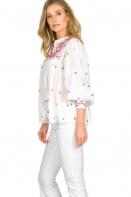 Antik Batik |  Embroiderded blouse Lilou | white  | Picture 3