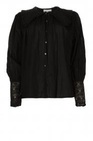 Antik Batik |  See-through blouse Aramis | black  | Picture 1