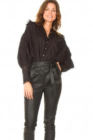 Antik Batik |  See-through blouse Aramis | black  | Picture 4