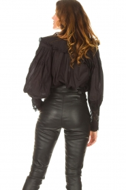 Antik Batik |  See-through blouse Aramis | black  | Picture 6